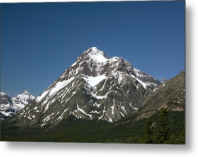 Snow Covered Mountain Metal Print by Amanda Kiplinger