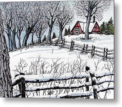 Metal Print featuring the painting Snow Field by Terry Banderas