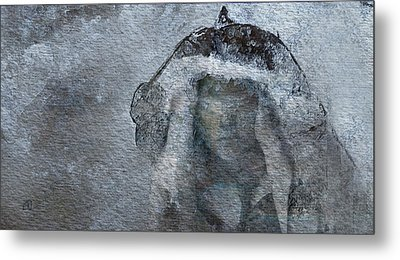 Metal Print featuring the digital art Snow Maiden by Jean Moore