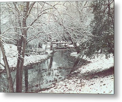 Metal Print featuring the photograph Snow On The Bayou by Louis Nugent