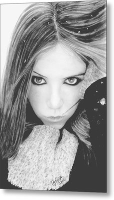 Snow Princess Metal Print
