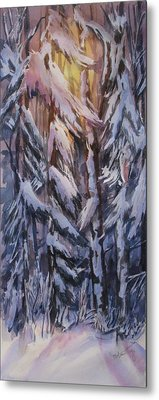 Snow Splattered 1 Metal Print by Mohamed Hirji