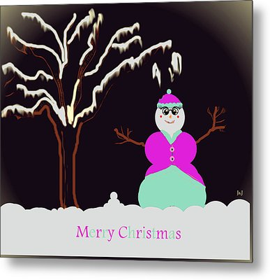 Snowlady Metal Print by Jan Steadman-Jackson
