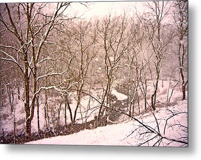 Snowy Country Day Metal Print