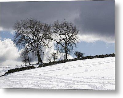 Snowy Field, Weardale, County Durham Metal Print by John Short