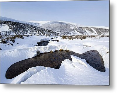 Snowy Landscape, Scotland Metal Print by Duncan Shaw