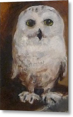 Metal Print featuring the painting Snowy Owl by Jessmyne Stephenson