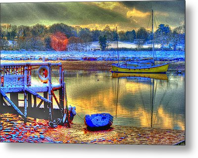 Snowy River Sunset Metal Print by Jane James