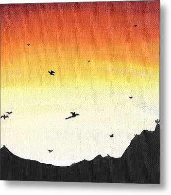 Soaring Sunset 2 Metal Print by Jera Sky