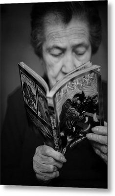 Sober Reading Metal Print