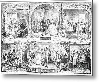 Social Activities, 1861 Metal Print by Granger