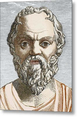 Socrates, Ancient Greek Philosopher Metal Print by Sheila Terry