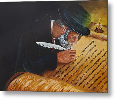 Sofer Stam Metal Print by Itzhak Richter