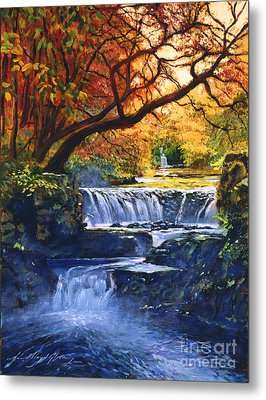 Soft Sounds Of Water Metal Print by David Lloyd Glover