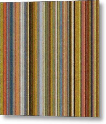 Soft Stripes Ll Metal Print by Michelle Calkins