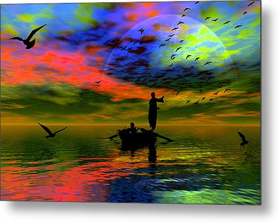 Metal Print featuring the digital art Solace by Shadowlea Is