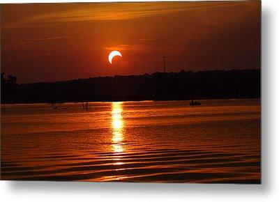 Solar Eclipse 2012 - Fort Worth Texas Metal Print by Elizabeth Hart