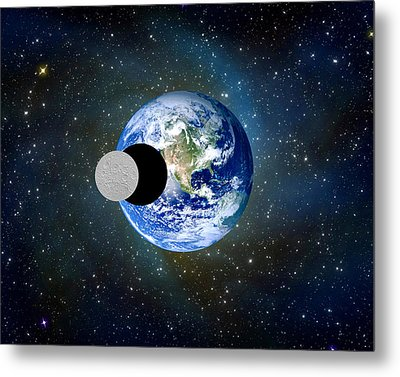 Solar Eclipse A Metal Print by Bruce Iorio