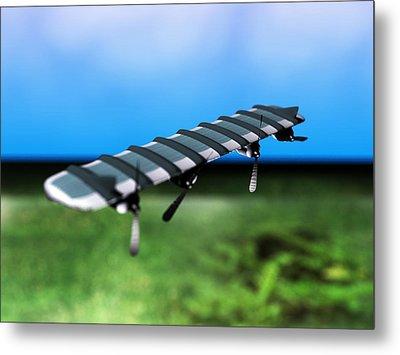 Solar Powered Aeroplane, Artwork Metal Print by Christian Darkin