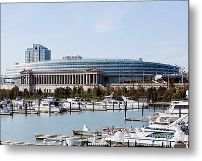 Soldier Field Chicago Metal Print by Paul Velgos