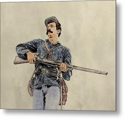 Soldier Of Gettysburg Metal Print by Randy Steele