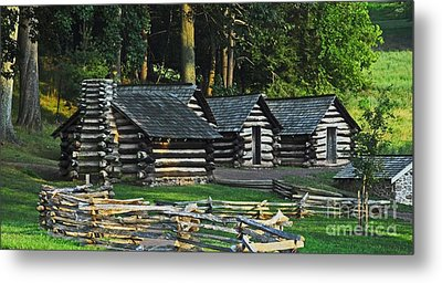 Metal Print featuring the photograph Soldiers Quarters At Valley Forge by Cindy Manero