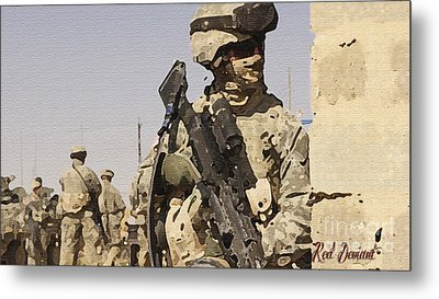 Soldiers. Metal Print by Red Deviant