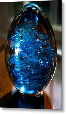 Solid Glass Sculpture E7 Metal Print by David Patterson