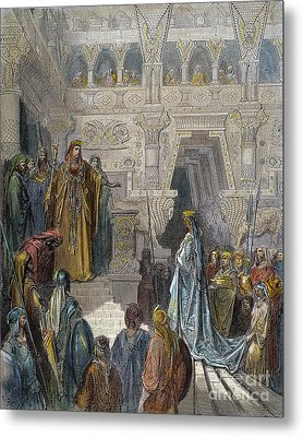 Solomon Receiving Sheba Metal Print by Granger