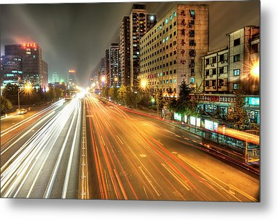 Some Beijing Street Metal Print by Tony Shi Photography