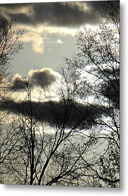 Some Rather Serious Looking Clouds Metal Print by Brenda Conrad