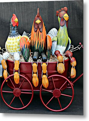 Metal Print featuring the photograph Something To Cluck About by Jo Sheehan