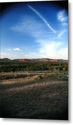 Metal Print featuring the photograph Somewhere Off The Interstate In New Mexico by Lon Casler Bixby