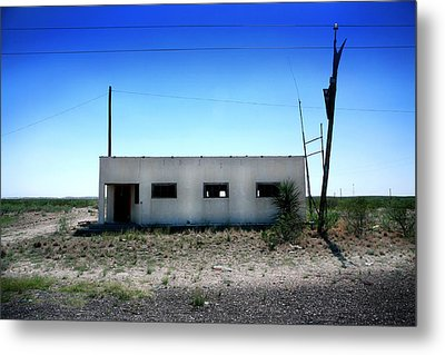 Metal Print featuring the photograph Somewhere On The Old Pecos Highway Number 1 by Lon Casler Bixby
