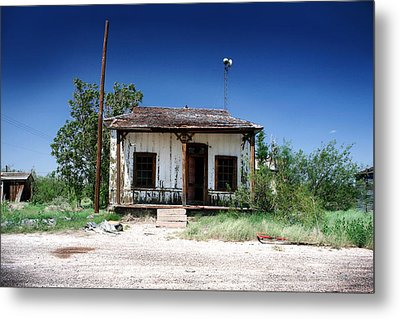 Metal Print featuring the photograph Somewhere On The Old Pecos Highway Number 3 by Lon Casler Bixby