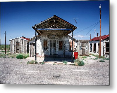 Metal Print featuring the photograph Somewhere On The Old Pecos Highway Number 4 by Lon Casler Bixby