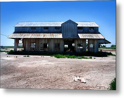 Metal Print featuring the photograph Somewhere On The Old Pecos Highway Number 6 by Lon Casler Bixby
