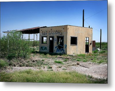 Metal Print featuring the photograph Somewhere On The Old Pecos Highway Number 7 by Lon Casler Bixby