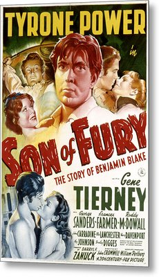 Son Of Fury, Tyrone Power, Gene Metal Print
