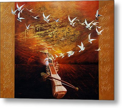 Song Of The Sunset Metal Print by S Jaswant