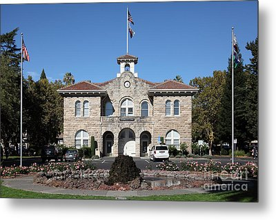 Sonoma City Hall - Downtown Sonoma California - 5d19260 Metal Print by Wingsdomain Art and Photography