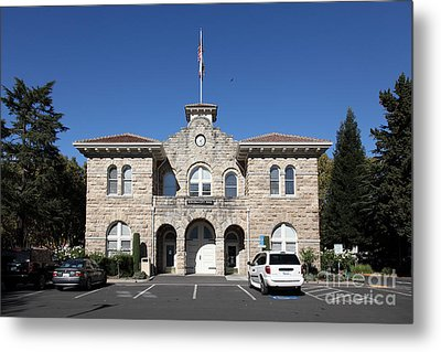 Sonoma City Hall - Downtown Sonoma California - 5d19265 Metal Print by Wingsdomain Art and Photography