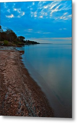 Soothing Shoreline Metal Print by Frozen in Time Fine Art Photography