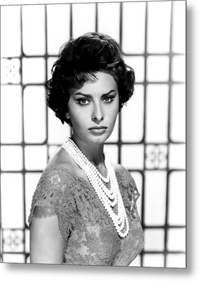 Sophia Loren, Circa 1950s Metal Print by Everett