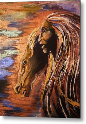 Soul Of Wild Horse Metal Print by Karen  Ferrand Carroll
