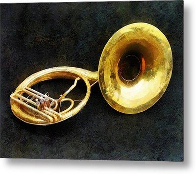 Sousaphone Metal Print by Susan Savad