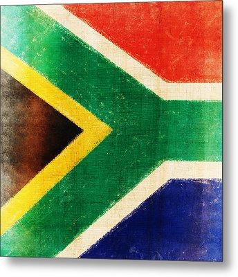 South Africa Flag Metal Print by Setsiri Silapasuwanchai