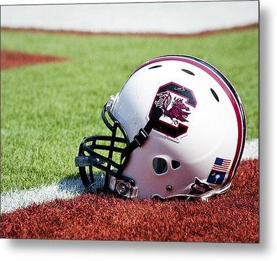 South Carolina Helmet Metal Print by Replay Photos