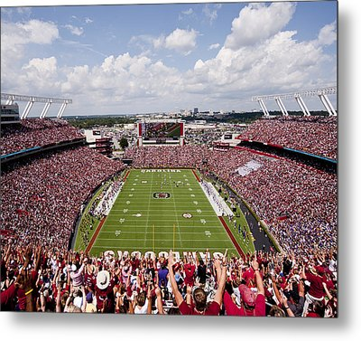 South Carolina View From The Endzone At Williams Brice Stadium Metal Print by Replay Photos