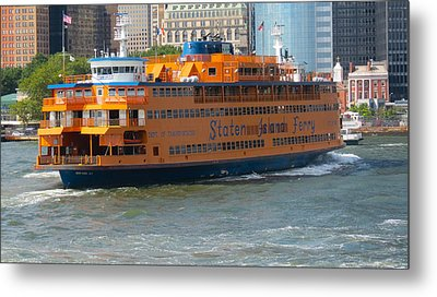 South Ferry Water Ride1 Metal Print by Terry Wallace